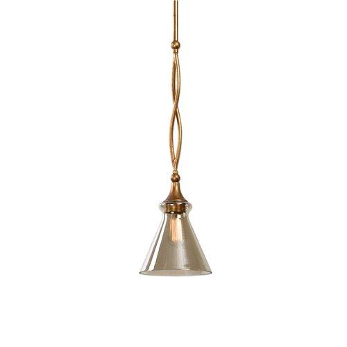 Uttermost Glam 1 Light Gold Mini Pendant