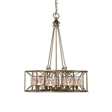 Uttermost Ghiaccio 8 Light Swedish Iron Pendant