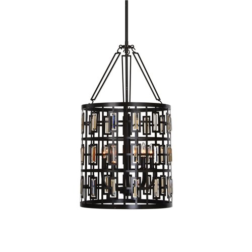 Uttermost Rhombus 5 Light Lantern Bronze Pendant