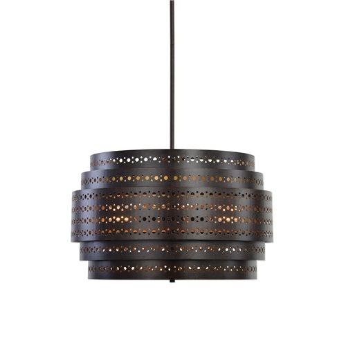 Uttermost Fuller 3 Light Drum Chandelier