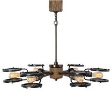 Uttermost Gavia 6 Light Dark Brass Chandelier