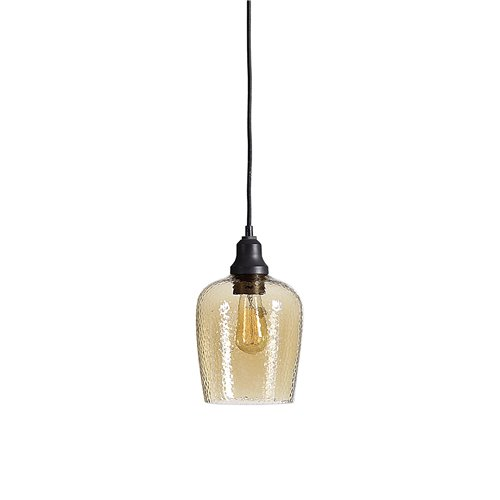 Uttermost Aarush Amber Glass 1 Light Mini Pendant