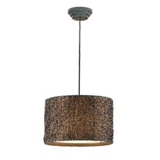 Uttermost Knotted Rattan Espresso Drum Pendant