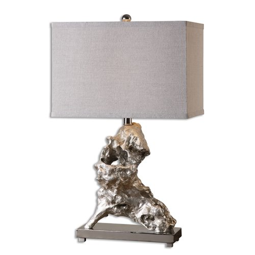 Uttermost Rilletta Metallic Silver Table Lamp