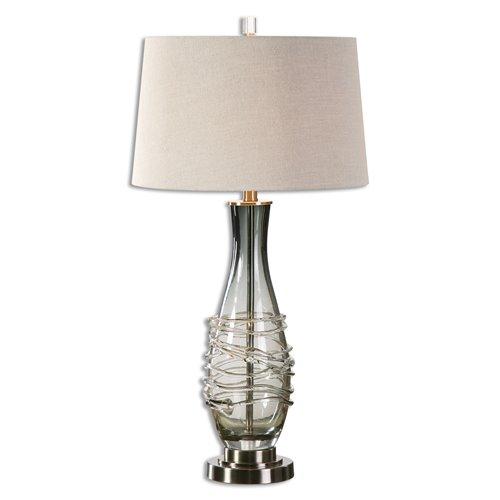Uttermost Durazzano Gray Glass Table Lamp