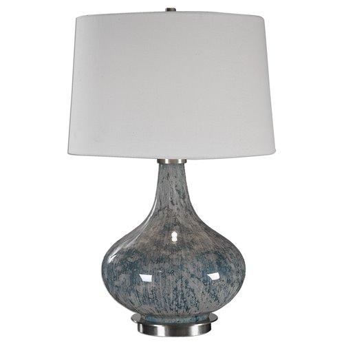 Uttermost Celinda Blue Gray Glass Lamp