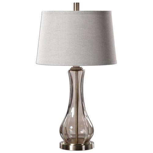 Uttermost Cynthiana Smoke Gray Glass Lamp