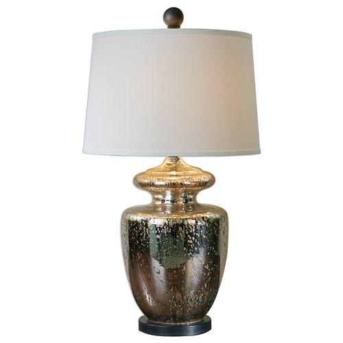 Uttermost Ailette Antiqued Mercury Glass Lamp