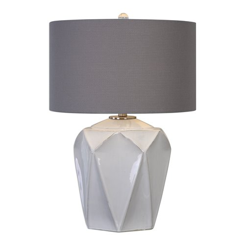 Uttermost Elvilar Gloss White Table Lamp