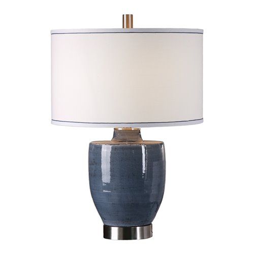 Uttermost Sylvaine Blue-Gray Glaze Lamp