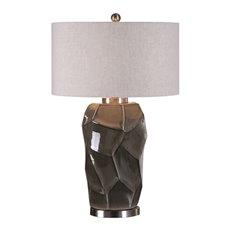 Uttermost Crayton Crackled Gray Table Lamp