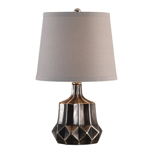 Uttermost Felice Dark Charcoal Accent Lamp