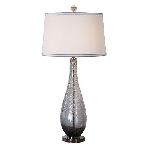 Uttermost Serano Gray Glass Table Lamp
