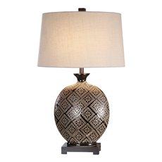 Uttermost Kelda Gloss Black Glazed Lamp