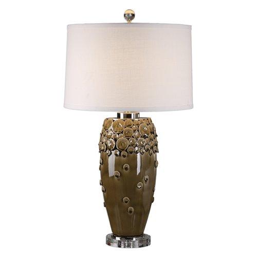 Uttermost Zacapa Brown Ceramic Table Lamp
