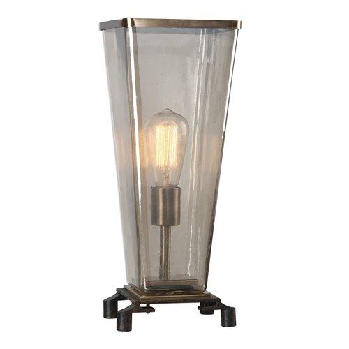 Uttermost Emidio Glass Hurricane Lamp