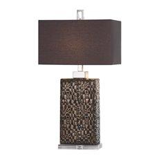 Uttermost Olavo Etched Dark Bronze Lamp