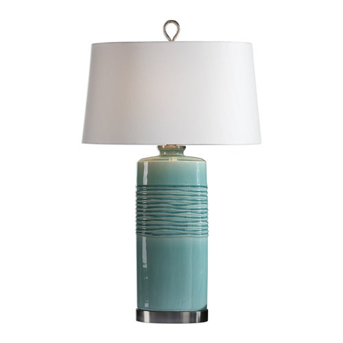 Uttermost Rila Distressed Teal Table Lamp