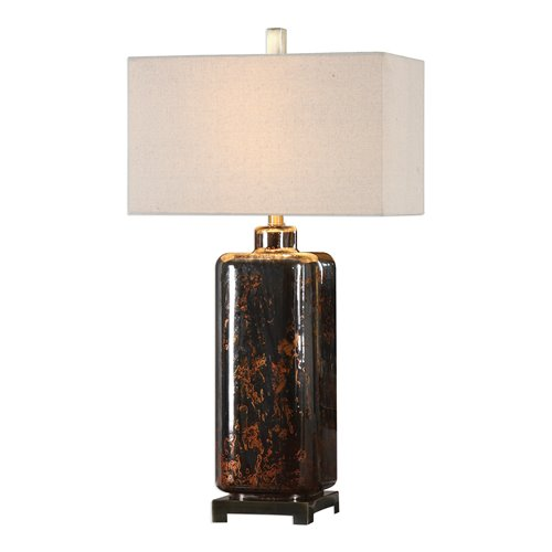 Uttermost Vanoise Bronze Mercury Glass Lamp