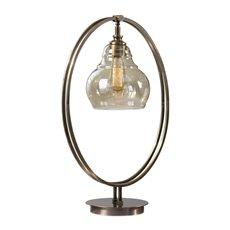 Uttermost Elliptical Brass Edison Bulb Lamp