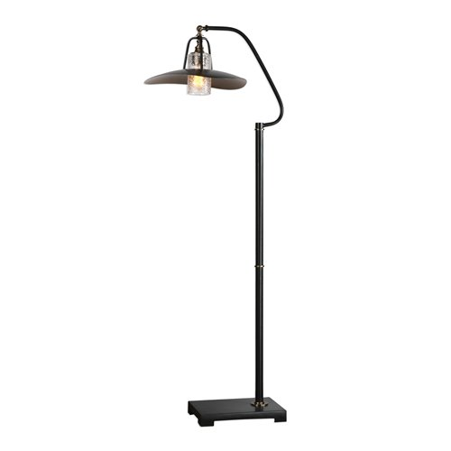 Uttermost Arkutino Black Iron Floor Lamp