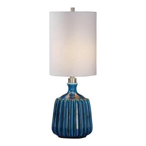 Uttermost Amaris Blue Ceramic Lamp