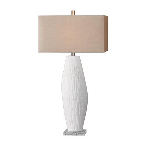 Uttermost Vona Textured White Lamp