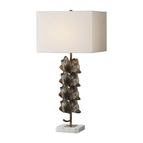 Uttermost Ginkgo Metallic Leaves Lamp