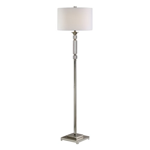 Uttermost Volusia Nickel Floor Lamp