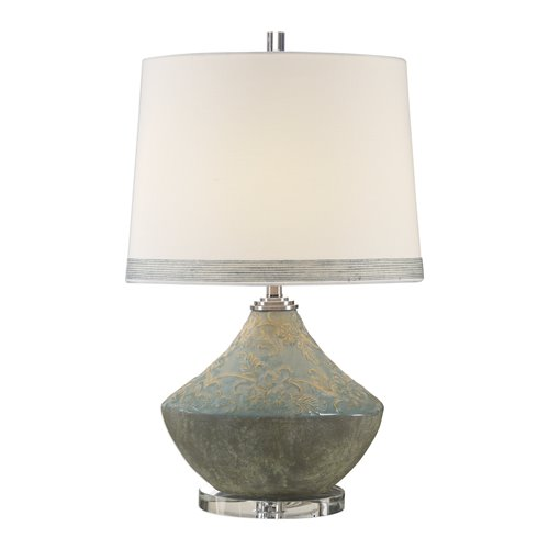 Uttermost Padova Aged Light Blue Lamp