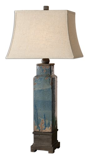Uttermost Soprana Blue Table Lamp