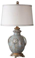 Uttermost Cancello Blue Glaze Lamp