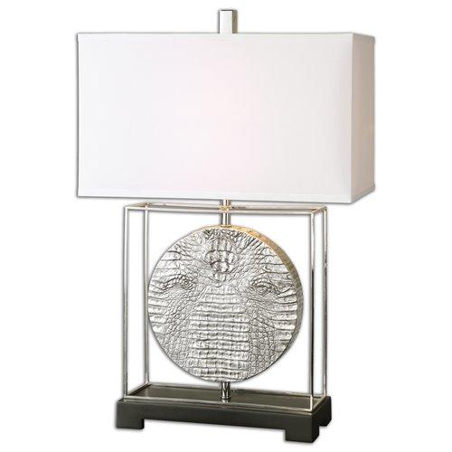 Uttermost Taratoare Polished Nickel Lamp