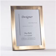 Brushed Antique Brass 8x10 Picture Frame with Easel Back