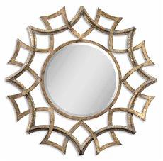 Uttermost Demarco Round Antique Gold Mirror