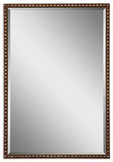 Uttermost Tempe Distressed Brown Mirror