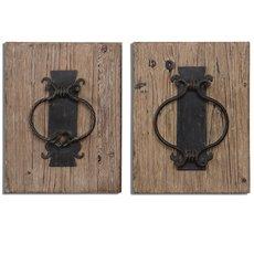 Uttermost Rustic Door Knockers Wall Art S/2