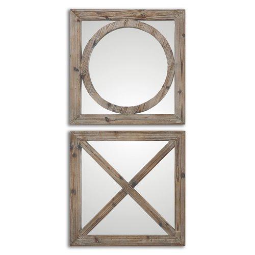 Uttermost Baci E Abbracci, Wooden Mirrors S/2