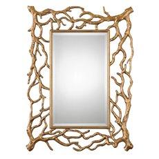 Uttermost Sequoia Gold Tree Branch Mirror