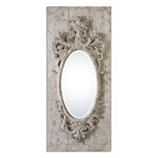 Uttermost Guardia Gray-Ivory Oval Mirror
