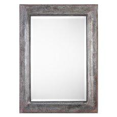 Uttermost Agathon Aged Stone Gray Mirror