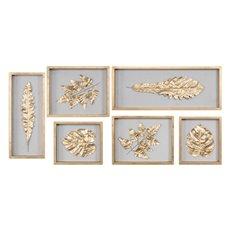 Uttermost Golden Leaves Shadow Box Set/6