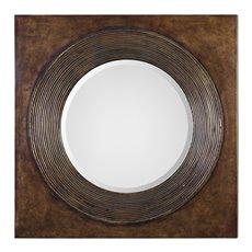Uttermost Eason Golden Bronze Round Mirror