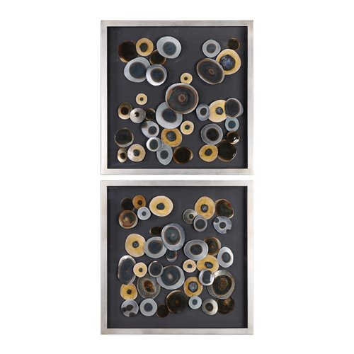 Uttermost Discs Wall Art Squares S/2