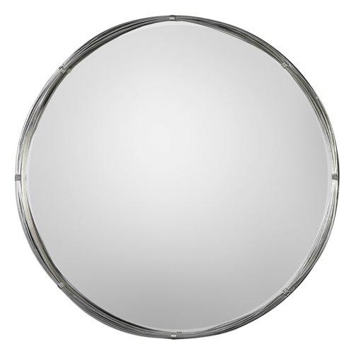 Uttermost Ohmer Round Metal Coils Mirror