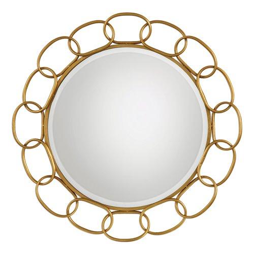 Uttermost Circulus Gold Round Mirror