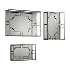 Uttermost Adoria Silver Wall Shelves S/3
