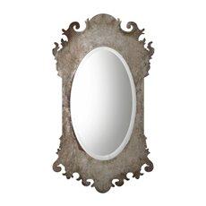 Uttermost Vitravo Oxidized Silver Oval Mirror