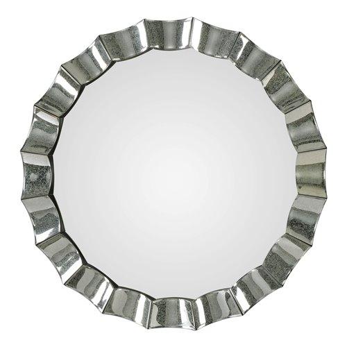 Uttermost Sabino Scalloped Round Mirror