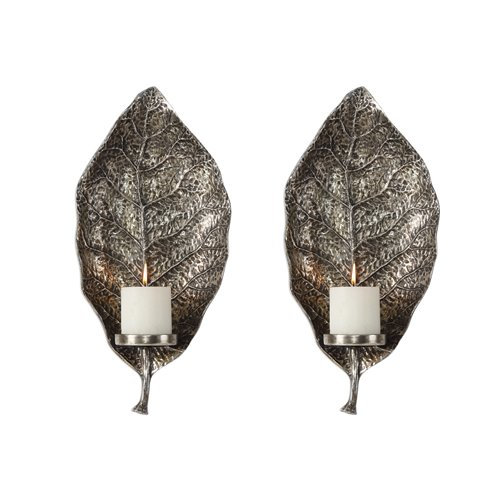 Uttermost Zelkova Leaf Wall Sconces S/2